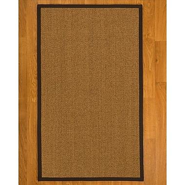 Bayou Breeze Asmund Hand Woven Fiber Sisal Brown/Fudge Area Rug w/ Rug Pad; 4' x 6'