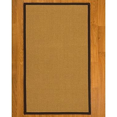 Breakwater Bay Coleridge Hand Woven Fiber Sisal Brown/Fudge Area Rug w/ Rug Pad; 8' x 10'