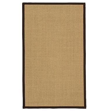 Bayou Breeze Atwell Hand Woven Brown/Fudge Area Rug; 2' x 3'