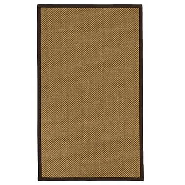August Grove Loehr Hand Woven Fiber Sisal Brown/Fudge Area Rug w/ Rug Pad; 5' x 8'