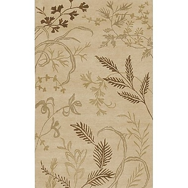 Bay Isle Home Howland Beige Floral Area Rug; 9' x 13'
