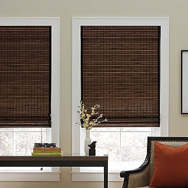 Bloomsbury Market Chocolate Roman Shade; 22'' W x 72'' L