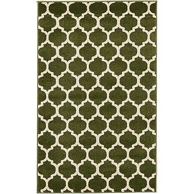 Charlton Home Moore Dark Green Area Rug; 3'3'' x 5'3''
