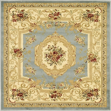 Charlton Home Patton Gray Area Rug; Square 4'