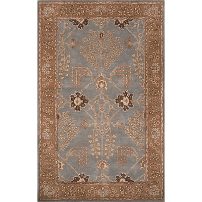 Charlton Home Trinningham Wool Hand Tufted Blue/Brown Area Rug; Rectangle 9'6'' x 13'6''