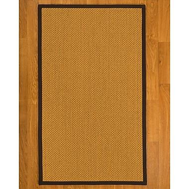 Bayou Breeze Aurora Hand Woven Rustic Fiber Sisal Brown/Fudge Area Rug w/ Rug Pad; 5' x 8'