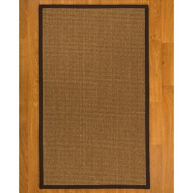 Bayou Breeze Avalynn Hand Woven Fiber Sisal Brown/Fudge Area Rug w/ Rug Pad; 5' x 8'