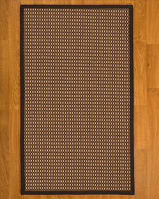 Bayou Breeze Avelina Hand Woven Fiber Sisal Brown/Fudge Area Rug w/ Rug Pad; 8' x 10'