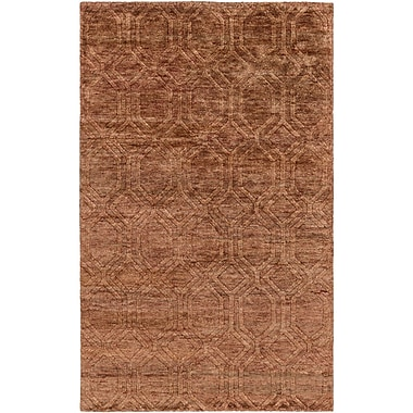 Darby Home Co Limewood Hand-Knotted Rust Area Rug