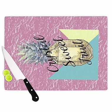 East Urban Home Victoria Krupp Glass 'Crystal Sweet Fruit' Cutting Board