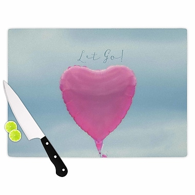 East Urban Home Robin Dickinson Glass 'Let Go!' Cutting Board; 0.25'' H x 15.75'' W x 11.5'' D
