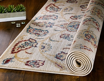 Charlton Home Chartridge Oriental Cream Area Rug; 7'4'' x 10'6''