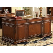 Darby Home Co Sunbeam Executive Desk w/ 7 Drawers