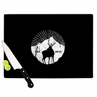 East Urban Home Glass 'American Mountain Deer Digital' Cutting Board; 0.25'' H x 11.5'' W x 8.25'' D