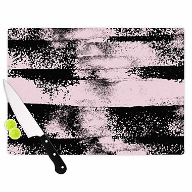 East Urban Home Vasare Nar Glass 'Abstract Painting' Cutting Board; 0.25'' H x 15.75'' W x 11.5'' D