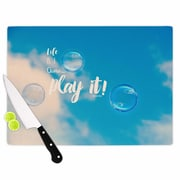 East Urban Home Robin Dickinson Glass 'Life Is a Game Photography' Cutting Board
