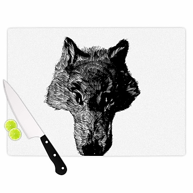 East Urban Home Glass 'Head Coyote Digital' Cutting Board; 0.25'' H x 11.5'' W x 8.25'' D