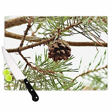 East Urban Home Sylvia Coomes Glass 'Pinecone' Cutting Board; 0.25'' H x 15.75'' W x 11.5'' D