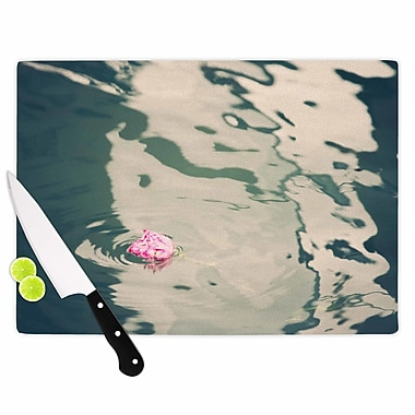 East Urban Home Sylvia Coomes Glass 'Venetian Rose' Cutting Board; 0.25'' H x 15.75'' W x 11.5'' D