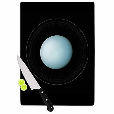 East Urban Home Alias Glass 'Uranus' Cutting Board; 0.25'' H x 11.5'' W x 8.25'' D