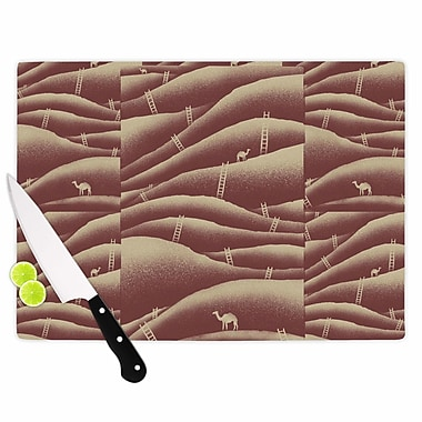 East Urban Home Glass 'Camels and Ladders Digital' Cutting Board; 0.25'' H x 15.75'' W x 11.5'' D