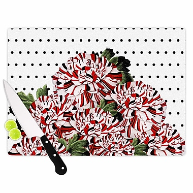 East Urban Home Tobe Fonseca Glass 'Spring Pattern Floral Mixed Illustration' Cutting Board