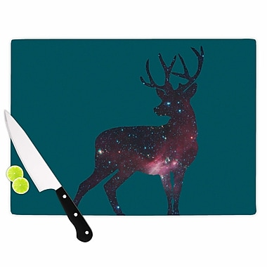 East Urban Home Alias Glass 'Deer in the Starlight' Cutting Board; 0.25'' H x 15.75'' W x 11.5'' D