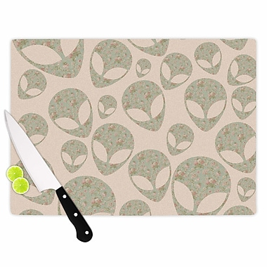 East Urban Home Alias Glass 'Abducting the Flowers' Cutting Board; 0.25'' H x 11.5'' W x 8.25'' D