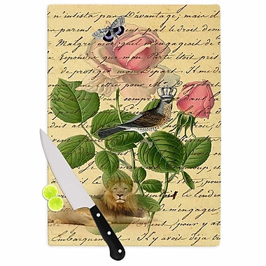 East Urban Home Suzanne Carter Glass 'Vintage Dream Floral Script' Cutting Board