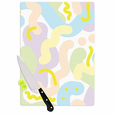 East Urban Home Vasare Nar Glass 'Pastel Futuristic Illustration' Cutting Board