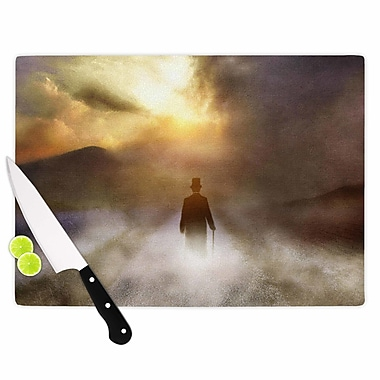 East Urban Home Viviana Gonzalez Glass 'Day Dream People' Cutting Board