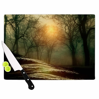 East Urban Home Viviana Gonzalez Glass 'From Small Beginnings and Big' Cutting Board