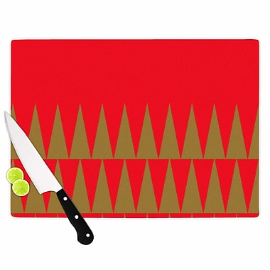 East Urban Home Suzanne Carter Glass 'Christmas 1' Cutting Board; 0.25'' H x 11.5'' W x 8.25'' D