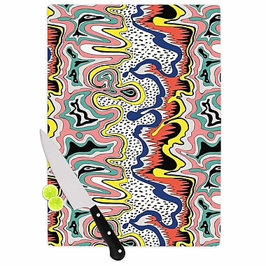 East Urban Home DLKG Design Glass 'Modern Expression Abstract Illustraion' Cutting Board