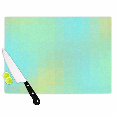 East Urban Home Sylvia Coomes Glass 'Sea Mosaic' Cutting Board; 0.25'' H x 15.75'' W x 11.5'' D