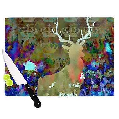 East Urban Home Suzanne Carter Glass 'Regal' Cutting Board; 0.25'' H x 11.5'' W x 8.25'' D