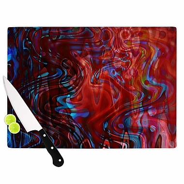 East Urban Home Suzanne Carter Glass 'Flow' Cutting Board; 0.25'' H x 11.5'' W x 8.25'' D