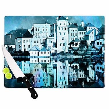 East Urban Home Suzanne Carter Glass 'Night Sky' Cutting Board; 0.25'' H x 11.5'' W x 8.25'' D