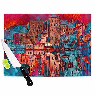 East Urban Home Suzanne Carter Glass 'Marbled Skyline' Cutting Board; 0.25'' H x 11.5'' W x 8.25'' D