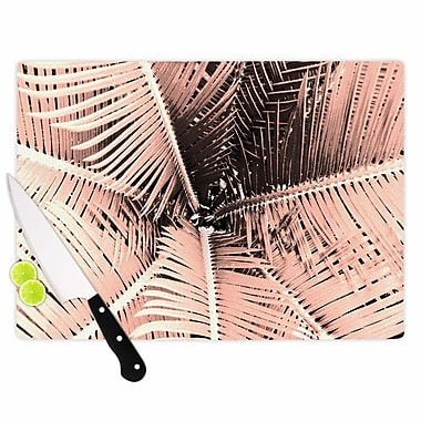 East Urban Home Suzanne Carter Glass 'Palm' Cutting Board; 0.25'' H x 11.5'' W x 8.25'' D