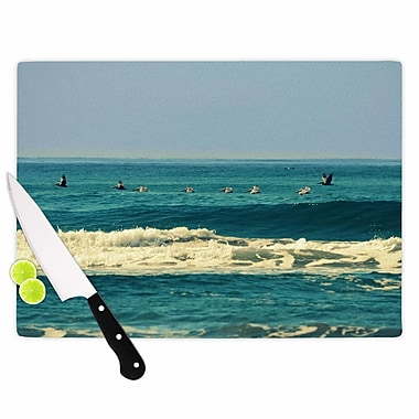 East Urban Home Robin Dickinson Glass 'Break Free & Soar Wave' Cutting Board