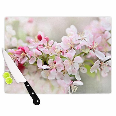 East Urban Home Sylvia Cook Glass 'April Flowers' Cutting Board; 0.25'' H x 11.5'' W x 8.25'' D