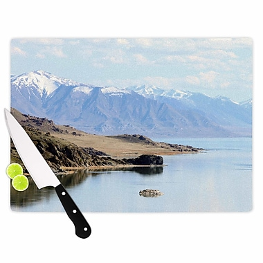 East Urban Home Sylvia Coomes Glass 'Mountain Reflection' Cutting Board