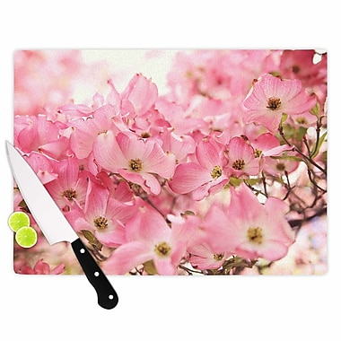 East Urban Home Sylvia Cook Glass 'Dogwood Floral Photography' Cutting Board