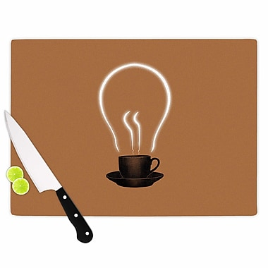 East Urban Home Digital Carbine Glass 'the Power of Coffee Food' Cutting Board