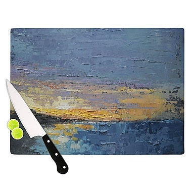 East Urban Home Carol Schiff Glass 'Caribbean Sunset' Cutting Board; 0.25'' H x 15.75'' W x 11.5'' D