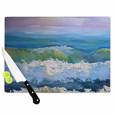 East Urban Home Carol Schiff Glass 'the Sea' Cutting Board; 0.25'' H x 15.75'' W x 11.5'' D