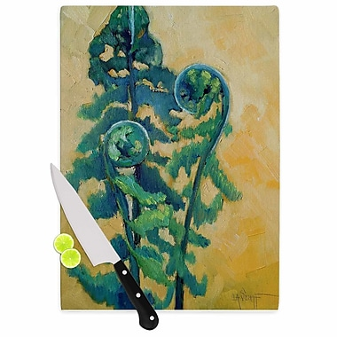 East Urban Home Carol Schiff Glass 'Fiddleheads' Cutting Board; 0.25'' H x 15.75'' W x 11.5'' D