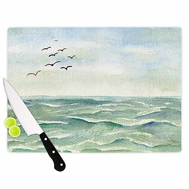East Urban Home Cyndi Steen Glass 'Flock Flying Low' Cutting Board; 0.25'' H x 11.5'' W x 8.25'' D