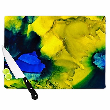 East Urban Home Claire Day Glass 'Drifting Abstract Painting' Cutting Board